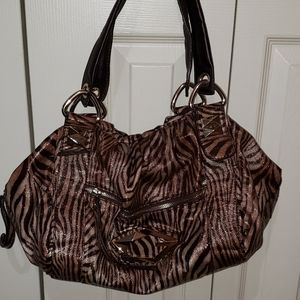 Guess zebra print shoulder bag